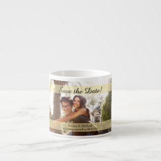 Custom Photo Wedding Save the Date Espresso Cup