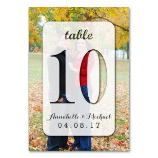 Custom Photo Wedding Table Number Card 10
