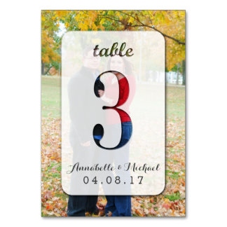 Custom Photo Wedding Table Number Card 3