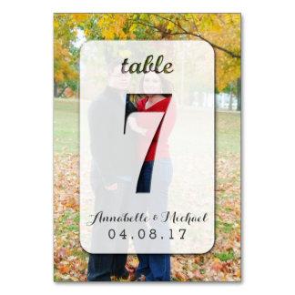 Custom Photo Wedding Table Number Card 7