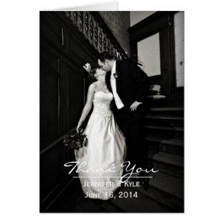 Custom Photo Wedding Thank You Card