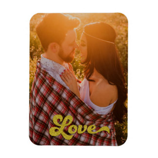 Custom Photo with Gold Love Magnet