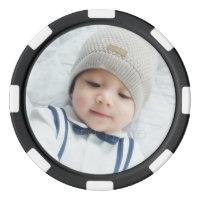 Custom Photo with Monogram and Name Poker Chip Set