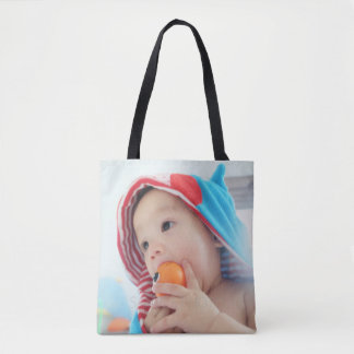 Custom Photo with Monogram and Name Tote Bag