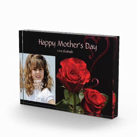 Custom Photo with Rose, Mothers Day Acrylic Gift