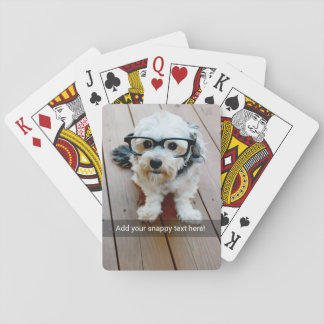 Custom Photo with Your Own Snap Chat Meme Playing Cards