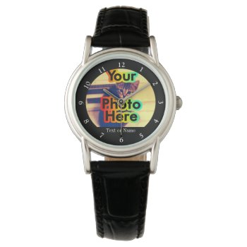 Custom Photo Women's Watch With Picture by cutencomfy at Zazzle