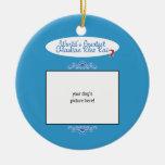 Custom Photo! Worlds Greatest Alaskan Klee Kai Christmas Ornament