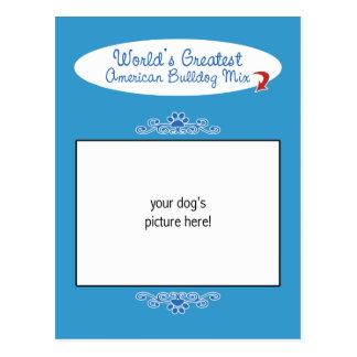 Custom Photo! Worlds Greatest American Bulldog Mix Postcards