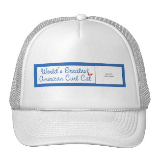 Custom Photo Worlds Greatest American Curl Cat Mesh Hats