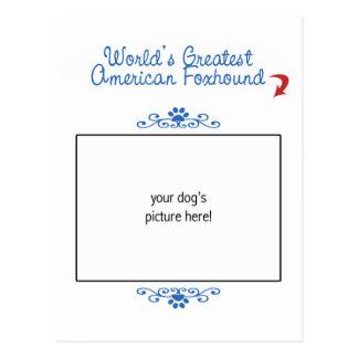 Custom Photo! Worlds Greatest American Foxhound Postcard