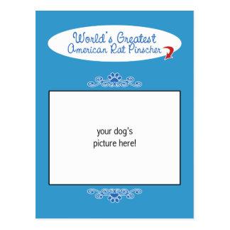 Custom Photo Worlds Greatest American Rat Pinscher Postcard