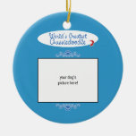 Custom Photo! Worlds Greatest Aussiedoodle Ornament