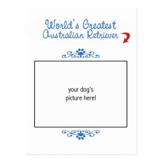 Custom Photo! Worlds Greatest Australian Retriever Postcard