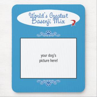 Custom Photo! Worlds Greatest Basenji Mix Mouse Pad