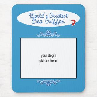 Custom Photo! Worlds Greatest Bea Griffon Mouse Pad