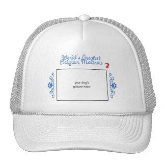 Custom Photo! Worlds Greatest Belgian Malinois Hats