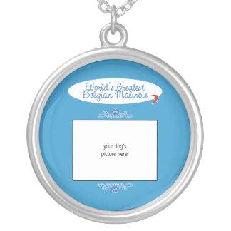 Custom Photo! Worlds Greatest Belgian Malinois Personalized Necklace