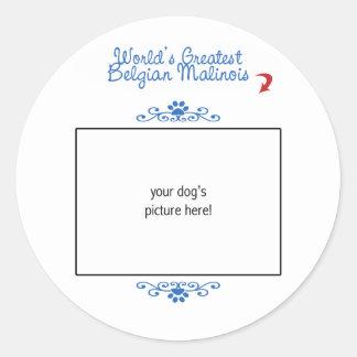Custom Photo! Worlds Greatest Belgian Malinois Sticker