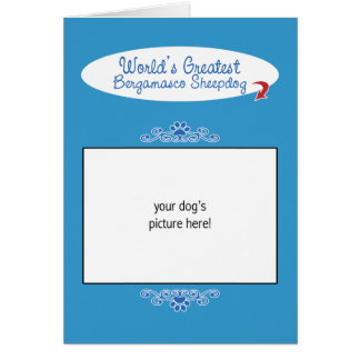 Custom Photo! Worlds Greatest Bergamasco Sheepdog Greeting Cards