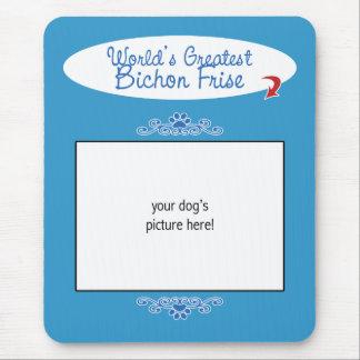 Custom Photo! Worlds Greatest Bichon Frise Mouse Pad