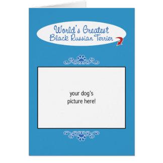 Custom Photo Worlds Greatest Black Russian Terrier Card