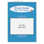 Custom Photo! Worlds Greatest Blue Point Siamese Greeting Cards