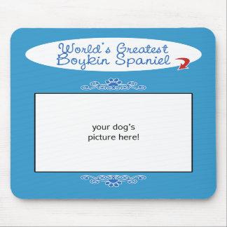 Custom Photo! Worlds Greatest Boykin Spaniel Mousepads