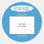 Custom Photo! Worlds Greatest Brussels Griffon Round Stickers