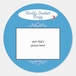 Custom Photo! Worlds Greatest Bugg Round Stickers