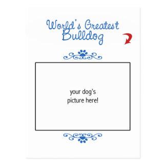 Custom Photo! Worlds Greatest Bulldog Post Card