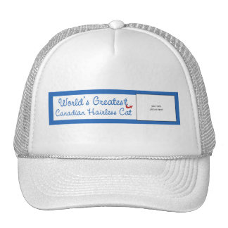 Custom Photo Worlds Greatest Canadian Hairless Cat Hats