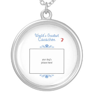 Custom Photo! Worlds Greatest Cavachon Silver Plated Necklace