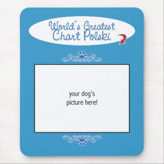 Custom Photo! Worlds Greatest Chart Polski Mouse Pad