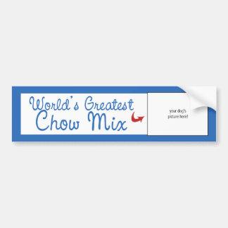 Custom Photo! Worlds Greatest Chow Mix Bumper Sticker