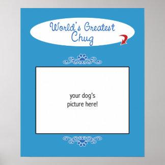 Custom Photo! Worlds Greatest Chug Poster