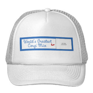 Custom Photo! Worlds Greatest Corgi Mix Trucker Hat