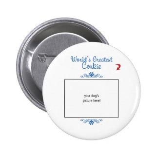 Custom Photo! Worlds Greatest Corkie Pinback Button