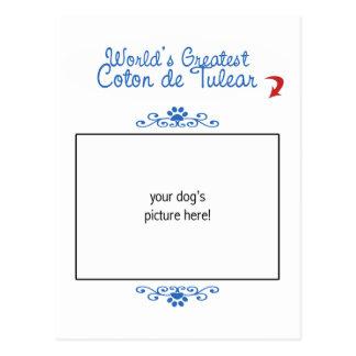 Custom Photo! Worlds Greatest Coton de Tulear Postcard