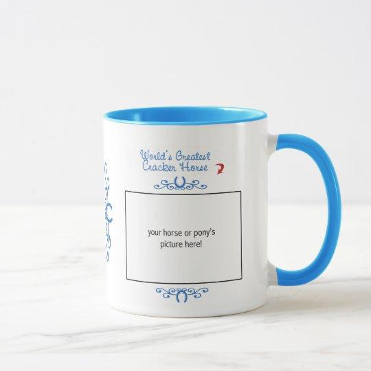 Custom Photo! Worlds Greatest Cracker Horse Mug