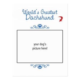Custom Photo! Worlds Greatest Dachshund Postcard