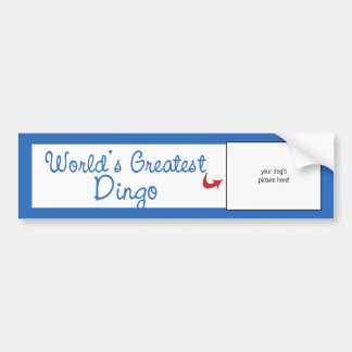 Custom Photo! Worlds Greatest Dingo Car Bumper Sticker