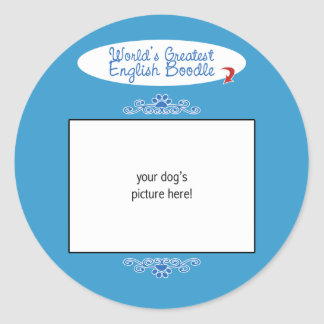 Custom Photo! Worlds Greatest English Boodle Stickers