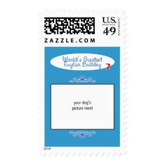 Custom Photo! Worlds Greatest English Bulldog Postage Stamps