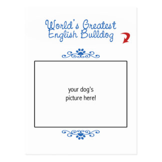 Custom Photo! Worlds Greatest English Bulldog Postcard