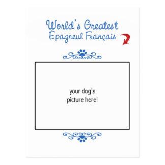Custom Photo! Worlds Greatest Épagneul Français Postcard