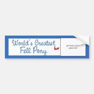 Custom Photo! Worlds Greatest Fell Pony Bumper Sticker
