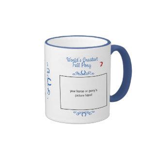 Custom Photo! Worlds Greatest Fell Pony Ringer Coffee Mug