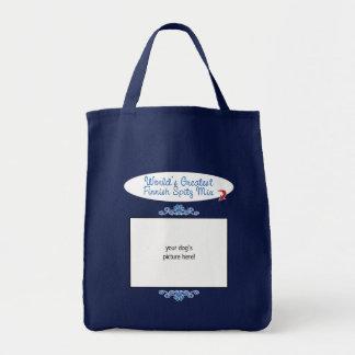 Custom Photo! Worlds Greatest Finnish Spitz Mix Bag