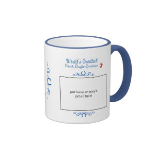 Custom Photo! Worlds Greatest French Anglo-Arabian Ringer Mug